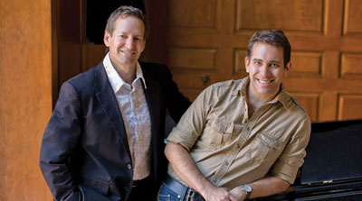 AOP executive director Charles Jarden and company manager Matt Gray in the Dec 08 issue of Opera News.